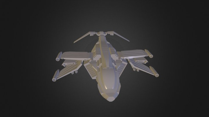 FuturisticAircraft.blend 3D Model