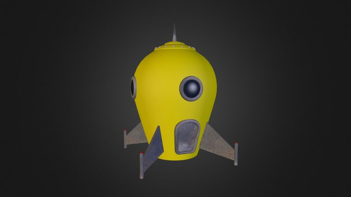 Yellow Rocket 3D Model