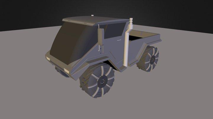 Unimog.3ds 3D Model