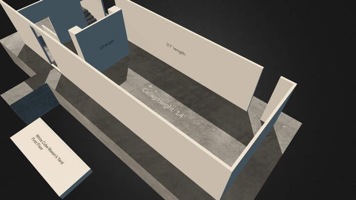 White Cube Masons Yard Floor 1 3D Model