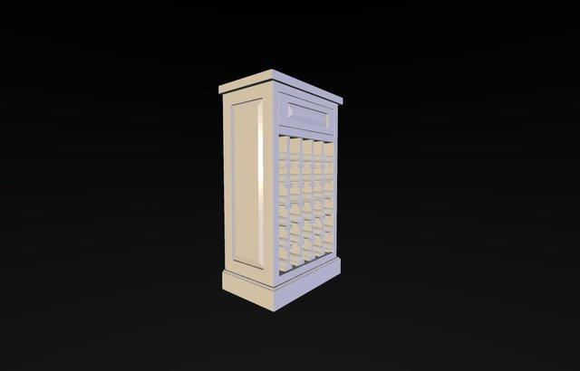 NEW WINE CABINET 3D Model