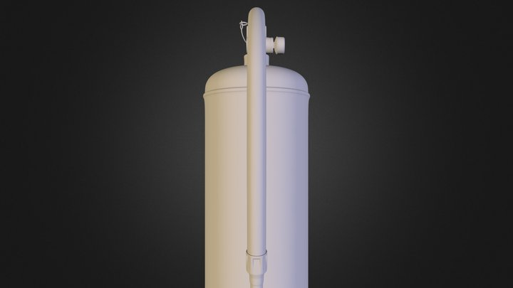 fire extinguisher.obj 3D Model