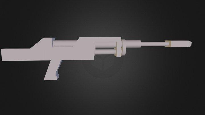 Anti-Materiel Rifle wip.dae 3D Model