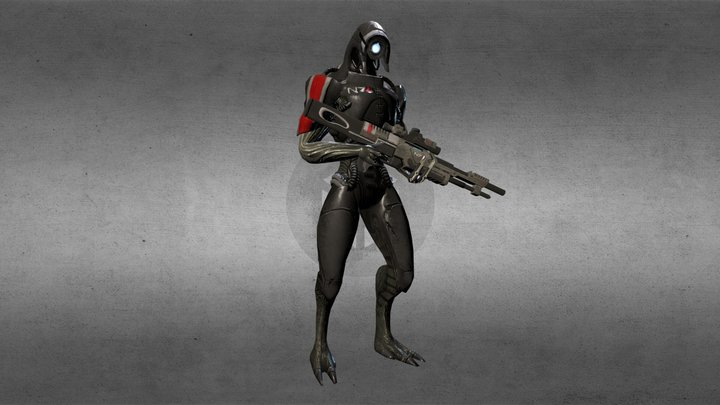 ME3 Geth Trooper Posed (Legion Version) 3D Model