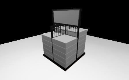 Quater Pallet Fixture 3D Model