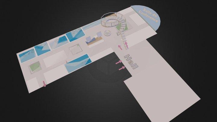 PLAN LYCEE mur 3D.dae 3D Model