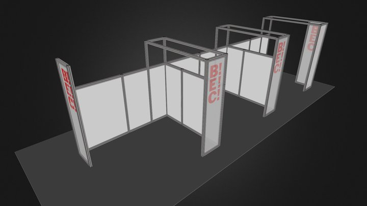 Octanorm 4x3LonaRejillaEdges 3D Model