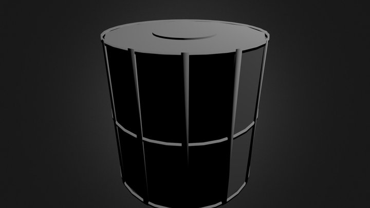Crystal Fuel Tank (Top & Bottom Attached) 3D Model