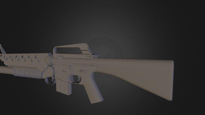 m16a1m203 3D Model