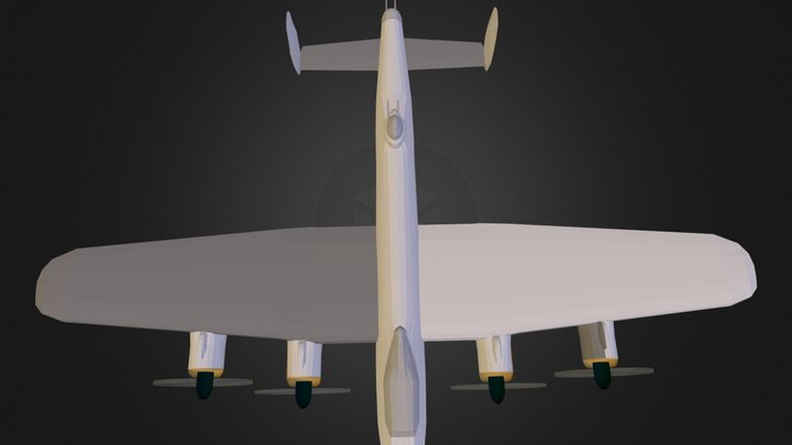 Airplane Lancaster MkII N111012.3DS 3D Model