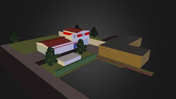 DLRG 4G 2alte-hoch&vertikal Rettungswache 3D Model