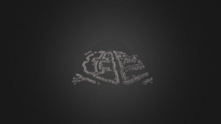 dak en muur pathmos 3D Model