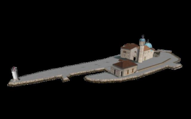 Notre-Dame du Rocher - Perast 3D Model