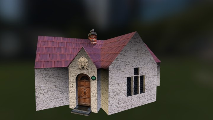 House Texture with Bump 3D Model