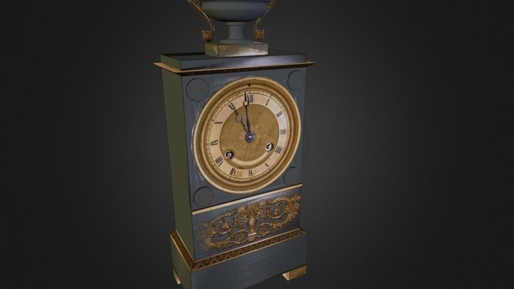 Pendule borne XIXe 3D Model