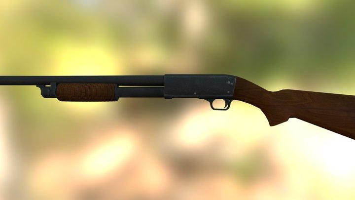 Ithaca m37 shotgun 3D Model