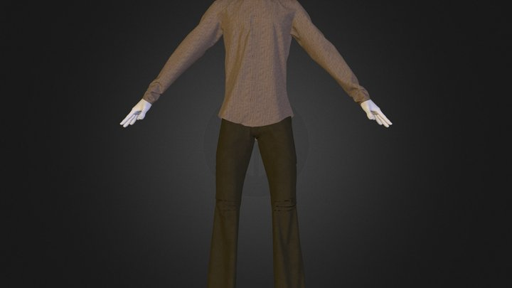 Cargo_Pants_SideFlare_with_Shirt.zip 3D Model