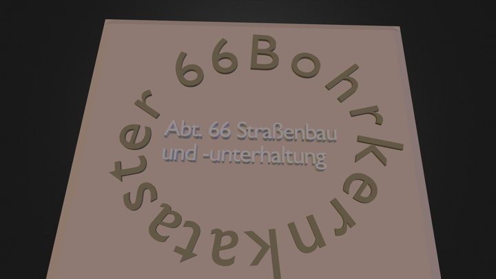 Bohrkerne 3D Model