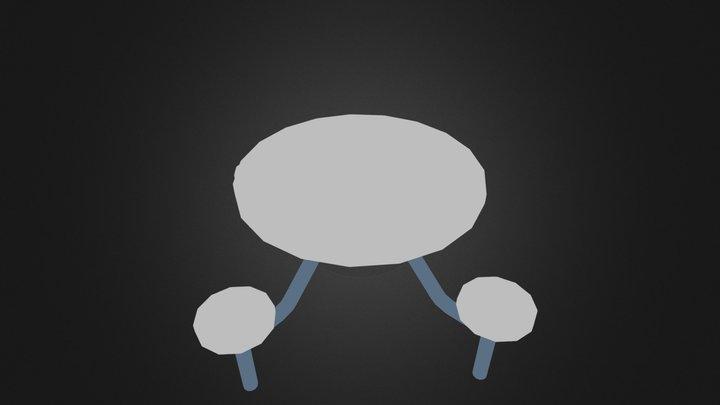 enclosed 4 man round.3ds 3D Model