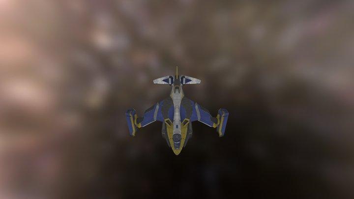 Planetside 2 NC Galaxy aircraft 3D Model