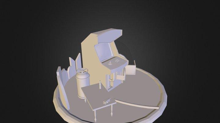 PetersArcadeMachine.obj 3D Model