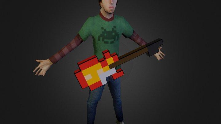 8bit adventure with guitar 3D Model