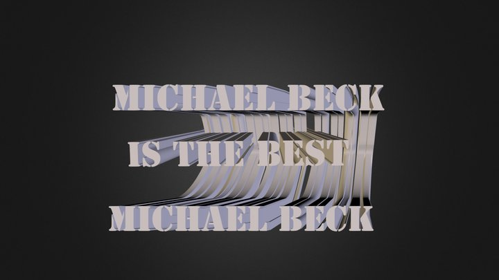 Michael Beck 3D Model