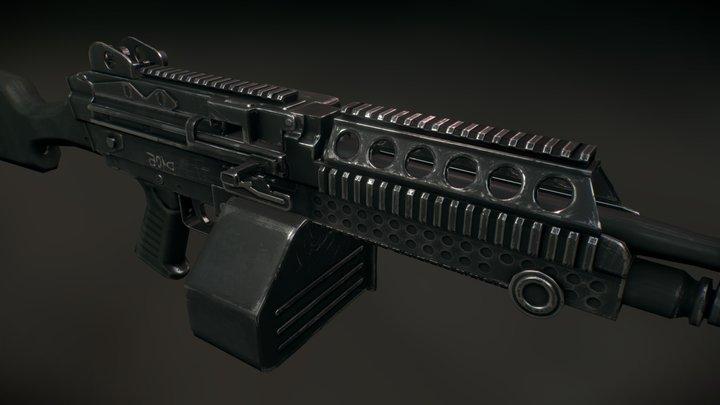 M249 light machinegun 3D Model