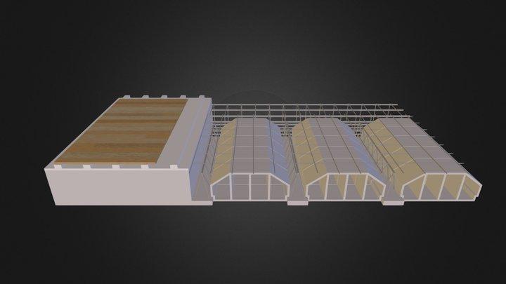 Detalle de Forjado. Rastreles y parquet 3D Model