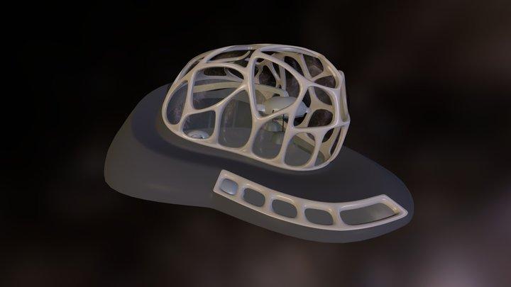 Futuristic Underwater Structure 3D Model