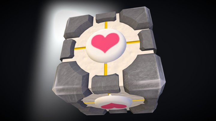 Wheighted companion cube 3D Model