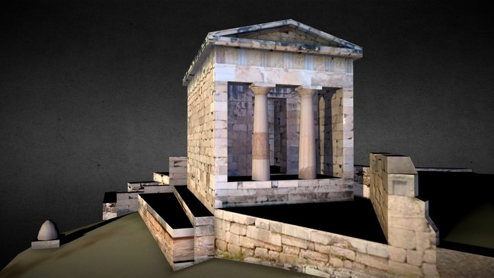 Athenian Treasury, Delphi 3D Model