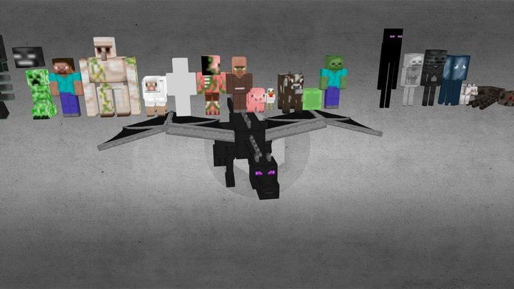 minecraft_model_rigged.zip 3D Model