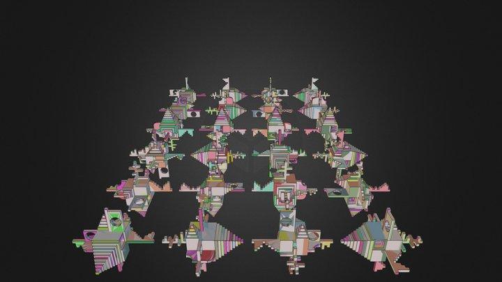 24 Positions 3D Model