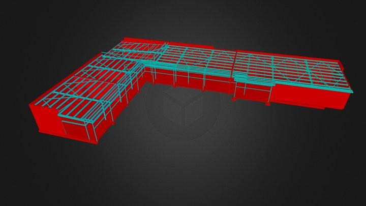 Commercial Building 2R.3ds 3D Model