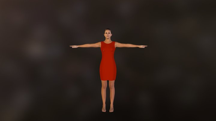 deno_clothed_red.zip 3D Model