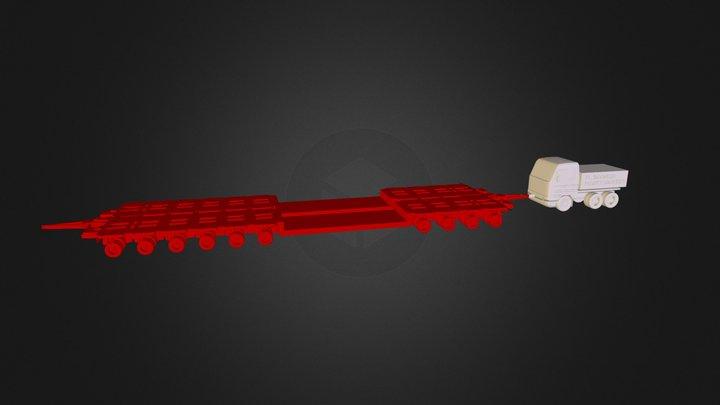 Multiaxle Trailer 3D Model