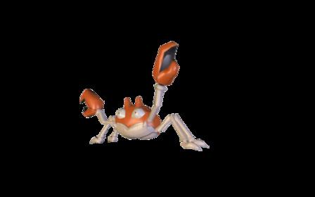 Krabby (Orange) 3D Model