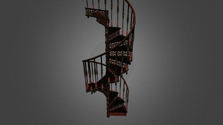 Escalier Métallique en colimaçon 3D Model