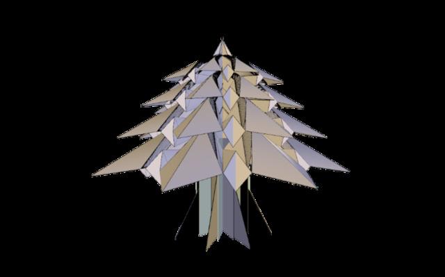 sapin origami 3D Model