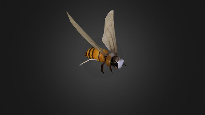 Low Poly Bee 3D Model