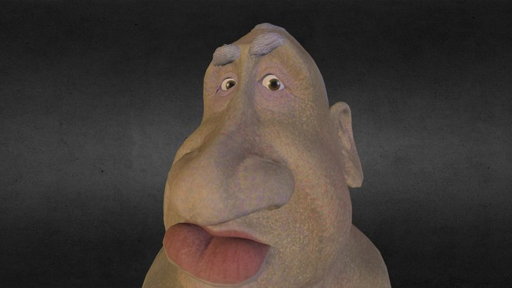 Hitchcock ZBrush Caricature  3D Model