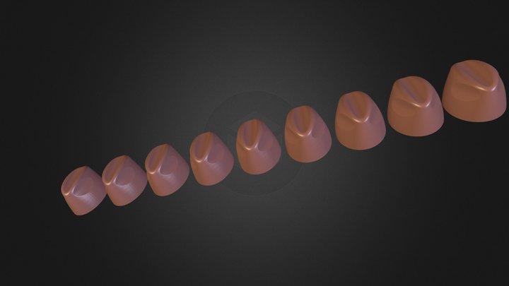 Hat Block Lineup 3D Model