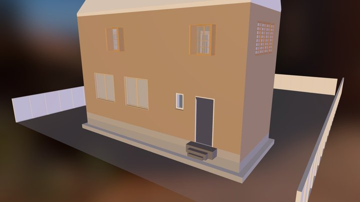 house with interior made in sketchup  for a scho 3D Model