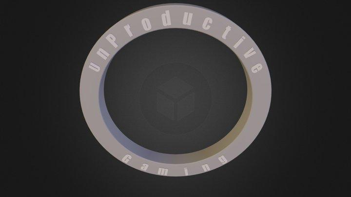 UnProductive LOGO.3ds 3D Model