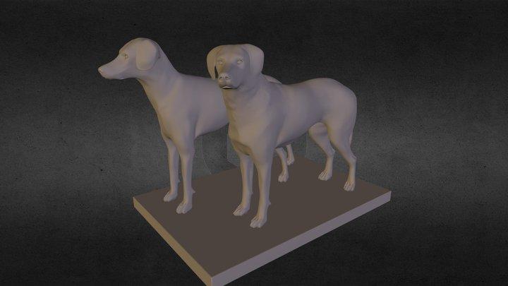 hundepaar.OBJ 3D Model