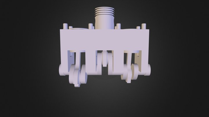 Three Cylinder  3D Model