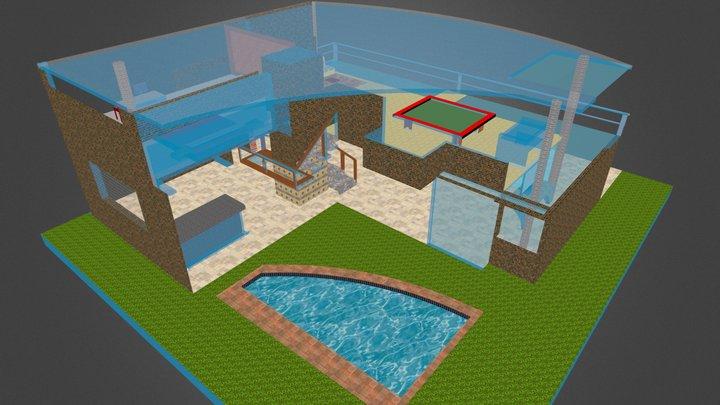 House of glass 3D Model