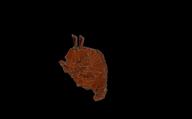 Chocoalte Rabbit 3D Model