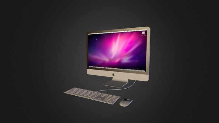 "Apple iMac 27"" i7 (middle 2011) 3D Model"